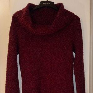Moda International Burgundy Cowl Neck Sweater